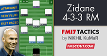 Zinedine Zidane's 4-3-3 Tactics for FM17