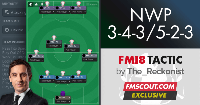 3-4-3/5-2-3 NWP Cheat Tactic for FM18 | FM Scout