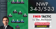 3-4-3/5-2-3 NWP Cheat Tactic for FM18