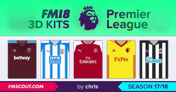 info for 819ec 5c07b Premier League 3D Kits 2017/18 - Kits FM18 - Italia Che ...