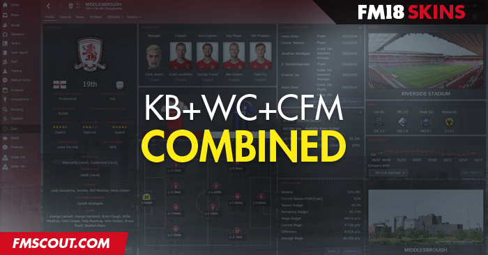 Football Manager 2018 Skins - 3 in 1 Skin Combo FM18