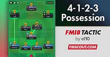 FM18 Tactic: 70% Possession & Goals Machine