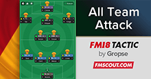4-2-3-1 All Team Attack v2018