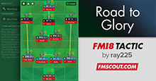 4-2-3-1 Road to Glory - FM18 Tactic