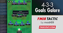 FM18 Tactic: 4-3-3 Goals Galore by modr69