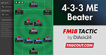 FM18 Tactic: 4-3-3 Match Engine Beater