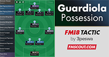 FM 18 Guardiola's 4-1-4-1 Possession Tactic