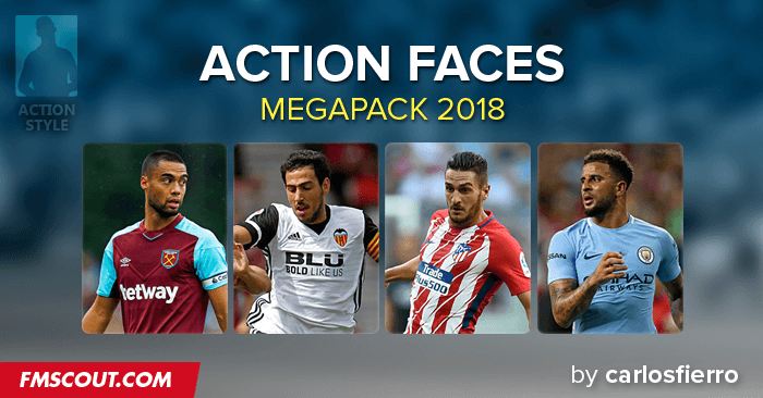 Football Manager 2017 Facepacks - Action Facepack 2018 by carlosfierro