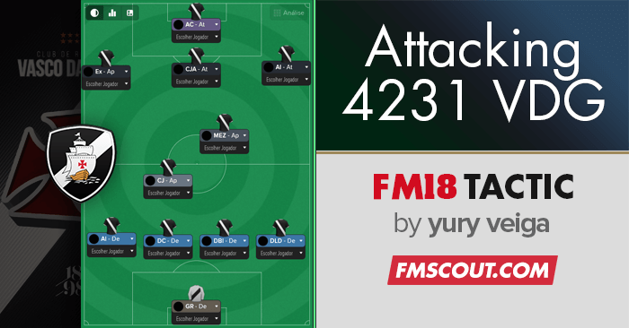 Football Manager 2018 Tactics - Vasco Attacking 4-2-3-1
