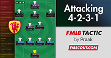Dominating 4-2-3-1 FM18 Tactic