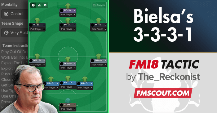Football Manager 2018 Tactics - Bielsa 3-3-3-1 Tactics for FM18
