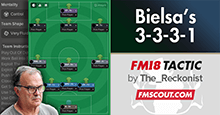 Bielsa 3-3-3-1 Tactics for FM18