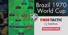 Brasil 1970 World Cup Tactic for FM18