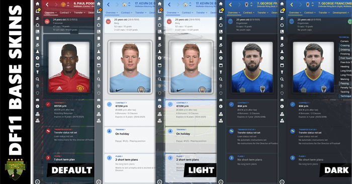 Football Manager 2018 Skins - DF11 Base Skins V2