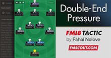 Double-End Pressure Free Roam - FM18 Tactic