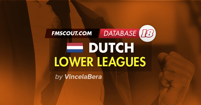 Football Manager 2018 League Updates - Dutch Lower Leagues for FM 2018 by VincelaBera