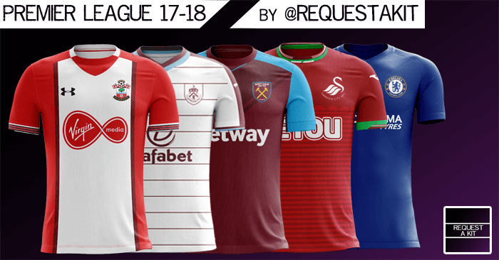 new concept 91b92 03277 English Premier League Kits 2017/18 | FM Scout