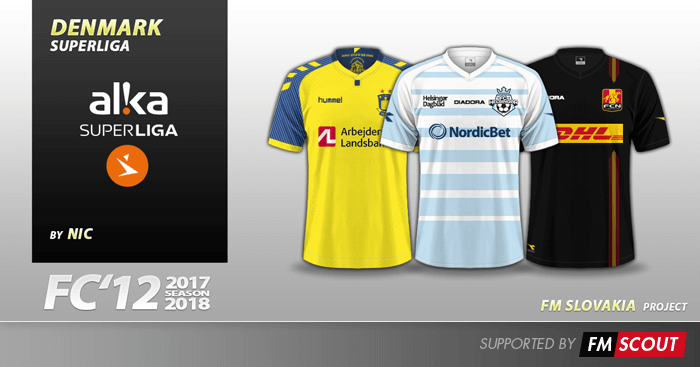 Football Manager 2018 Kits - FC'12 Denmark ALKA Superliga kits 2017/18