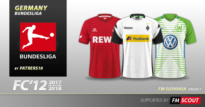 Football Manager 2018 Kits - FC'12 Germany Bundesliga kits 2017/18