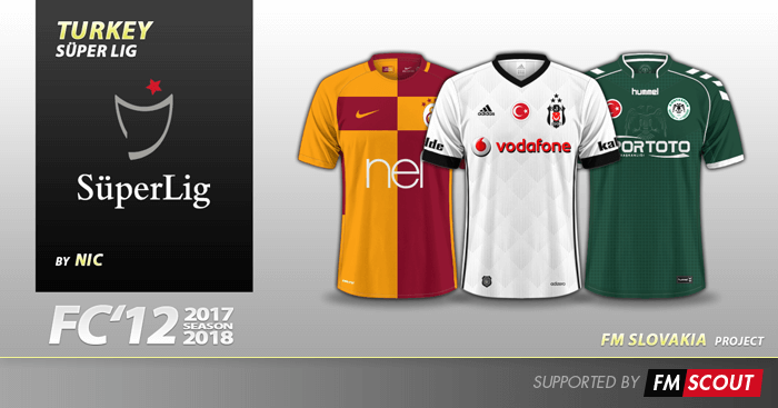 e44e7f7b Football Manager 2018 Kits - FC'12 Turkey Super Lig kits 2017/18. Turkey  Spor Toto Super League ...