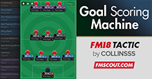 Goal Scoring Machine FM18 Tactic