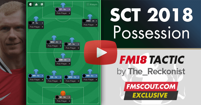 Football Manager 2018 Tactics - FM 2018 SCT Attacking Possession v1.0