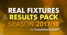 Real Fixtures & Results Pack for FM18