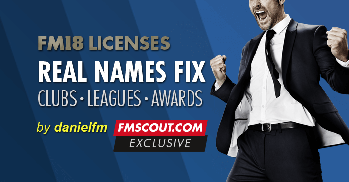 Football Manager 2018 Data Updates - Football Manager 2018 Real Names License Fix