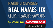 Football Manager 2018 Real Names & Licence Fix