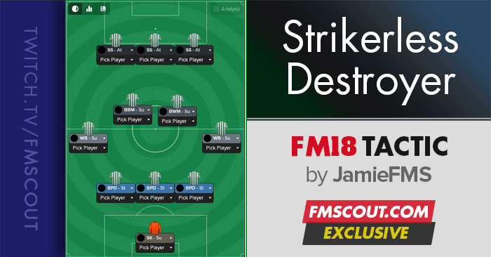 Football Manager 2018 Tactics - FM18 Tactic: Strikerless Destroyer 5-2-3-0
