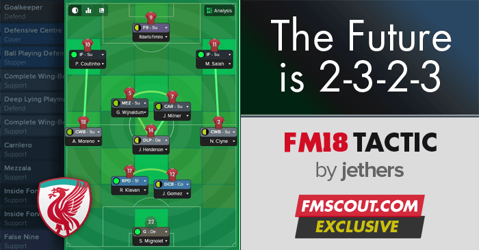 Football Manager 2018 Tactics - FM18 Tactic: 2-3-2-3 is the Future!