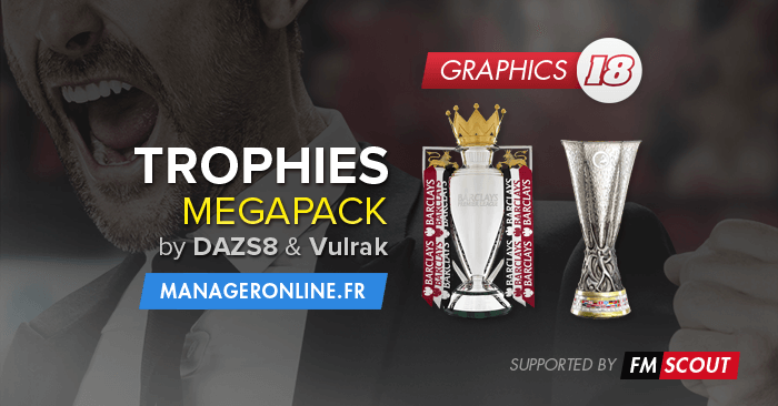 FM 2018 Misc Graphics - Football Manager 2018 Trophies Megapack