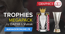 Football Manager 2018 Trophies Megapack