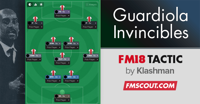 Football Manager 2018 Tactics - Guardiola Invincible FM18 Tactic CTW