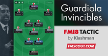 Guardiola Invincible FM18 Tactic CTW
