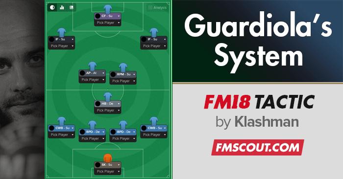 FM18 Tactic: Guardiola's Winning System CTW   FM Scout