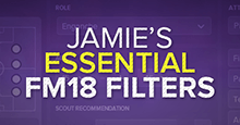 Jamie's Essential Football Manager 2018 Filters