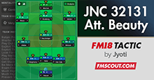 JNC Attacking Beauty v1.0 FM18 Tactic