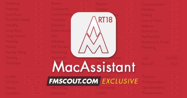 Football Manager 2018 Tools - MacAssistant RT for FM18