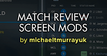 FM18 Match Review Screen Mods