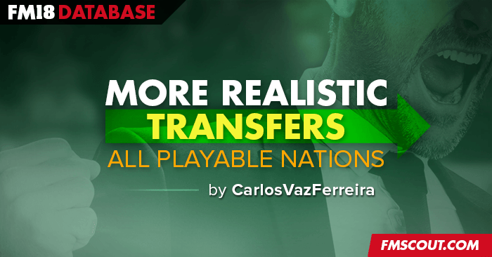 Football Manager 2018 Data Updates - More Realistic Transfers for FM18