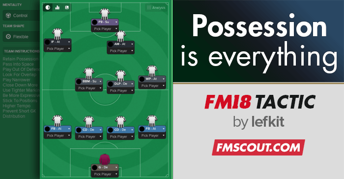 Football Manager 2018 Tactics - Possession is Everything - FM18 tactic