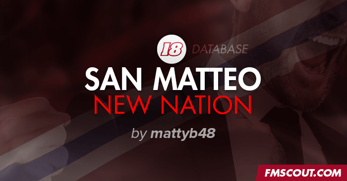 FM 2018 Fantasy Scenarios - San Matteo - Dawn of a New Nation