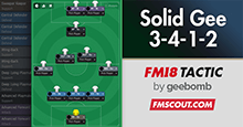 FM18 Tactic: Solid Gee 3-4-1-2 / 5-2-1-2
