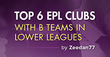 Top 6 EPL clubs have B teams in National League