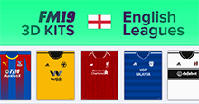 English Leagues 3D Kits 2018/19