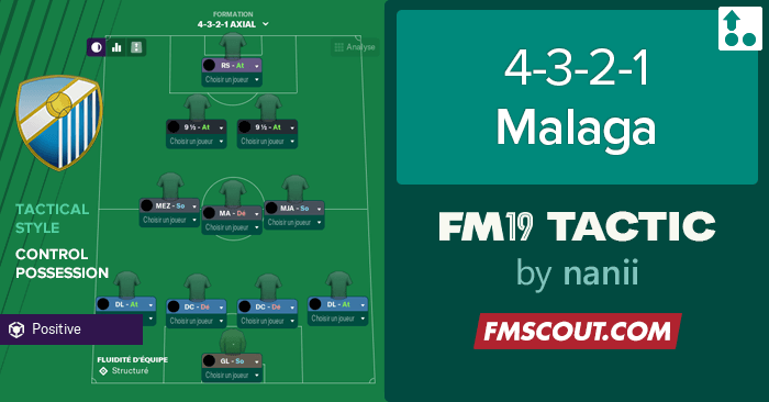 Football Manager 2019 Tactics - FM19 Tactic: 4-3-2-1 Malaga