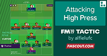 Attacking 4-1-4-1 High Press Tactic