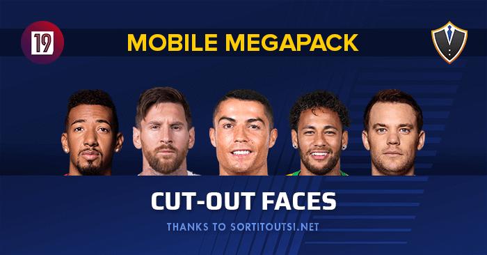 FM 2019 Mobile Standard Cutout Facepack | FM Scout