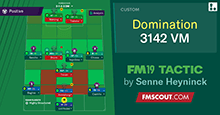 FM19 Tactic: Domination 3-1-4-2 VM